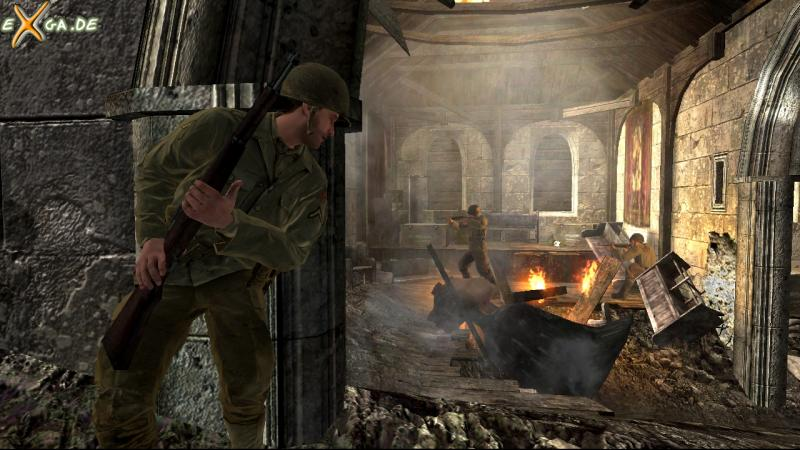 Call of Duty 3 - Church-EnemyAroundCorner